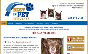 pet sitter website designer