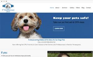 San Diego pet sitter web design