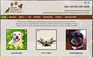 Illinois pet sitter website designer