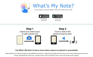 find your note with this app for singers